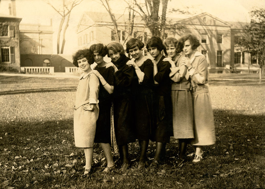 OCA students on McCaul St. (ca. 1920s)