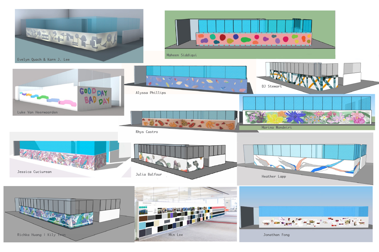 proposals for Wallwork design for the Mercedes-Benz Financial Services