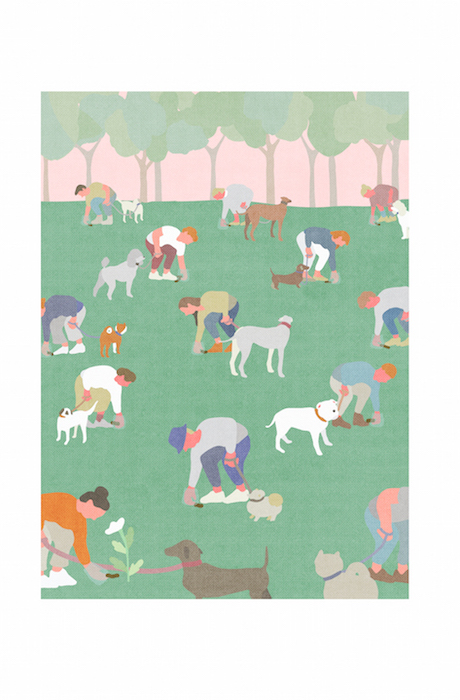 """KaYoung Lee """"The Dog Walkers"""" $1500 The Warby Parker Visionary Scholarship"""