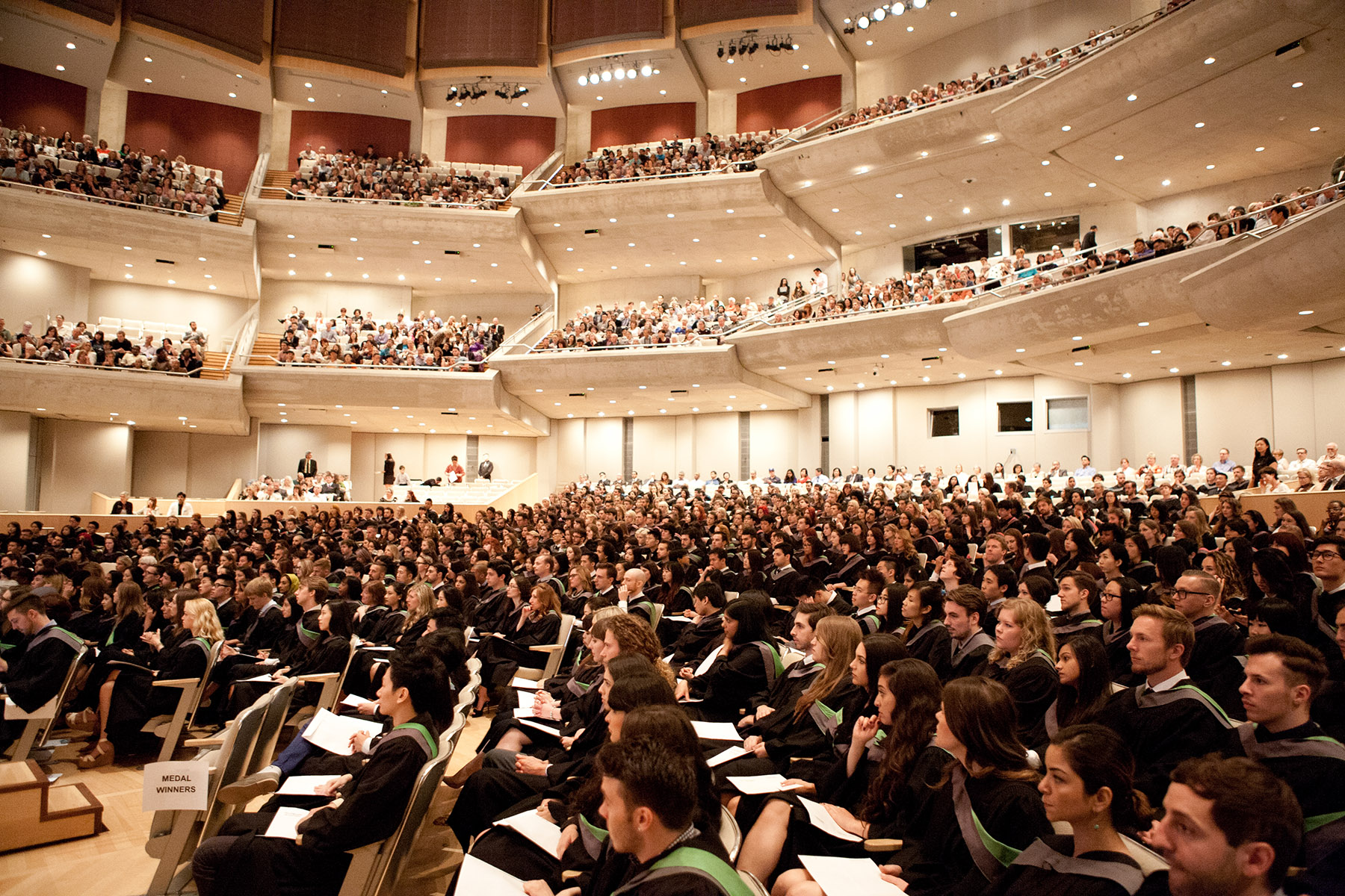Photo of graduands at Roy Thomson Hall