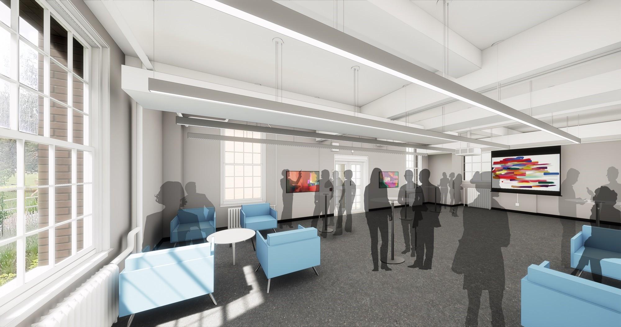 Rendering of renovated space
