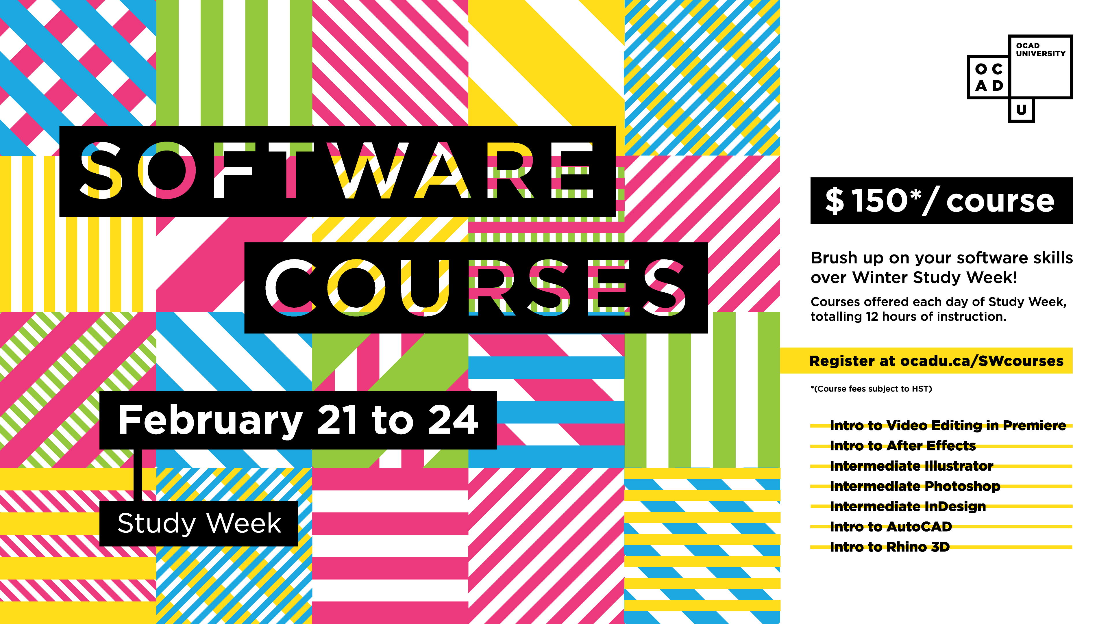 Study Week Software Courses February 21 to 24 with event info