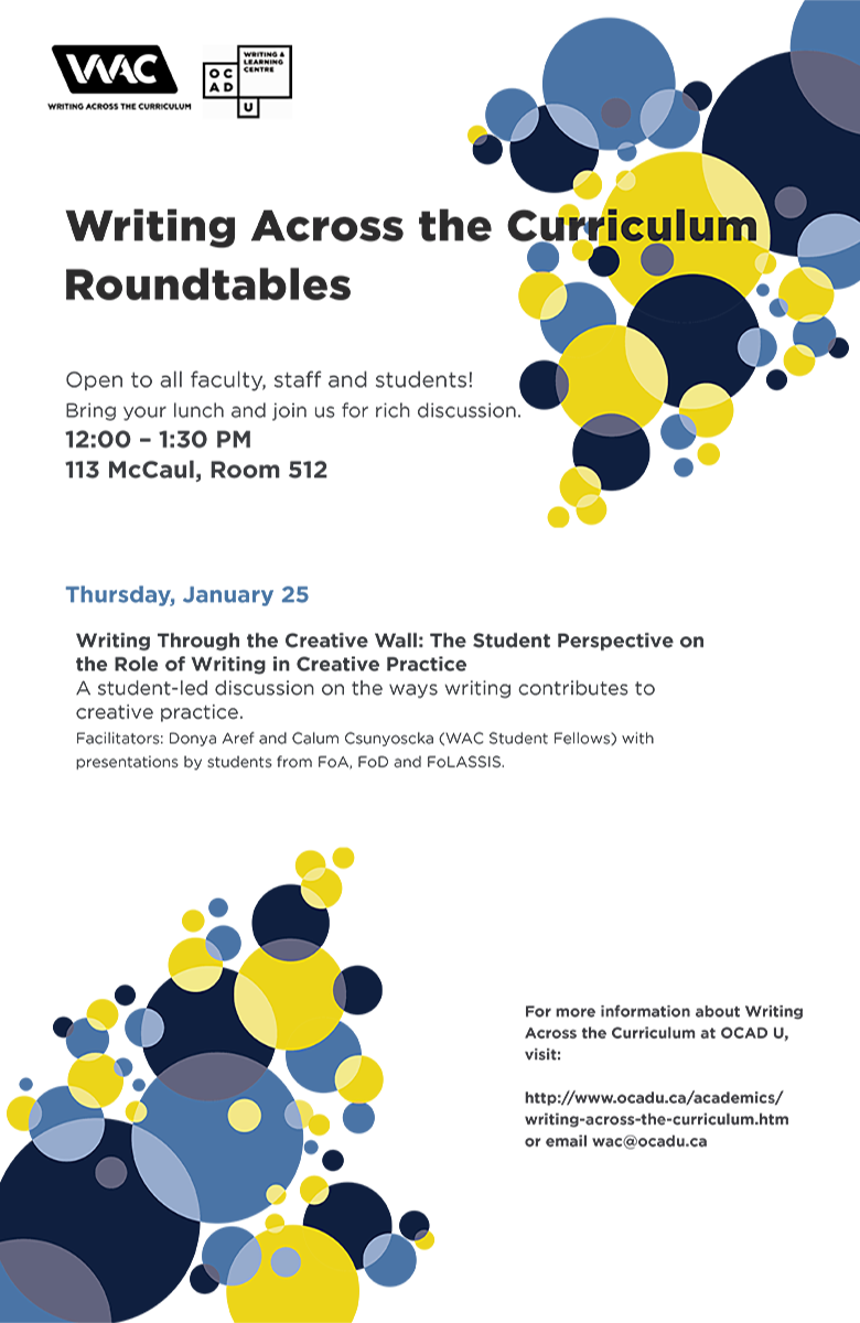 Student-led roundtable Jan 25 at 12-1:30pm