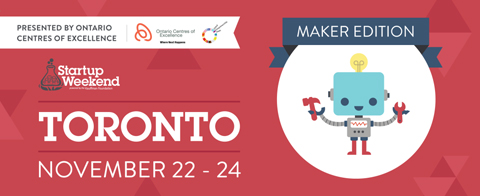 Toronto Startup Weekend logo courtesy Startup Weekend