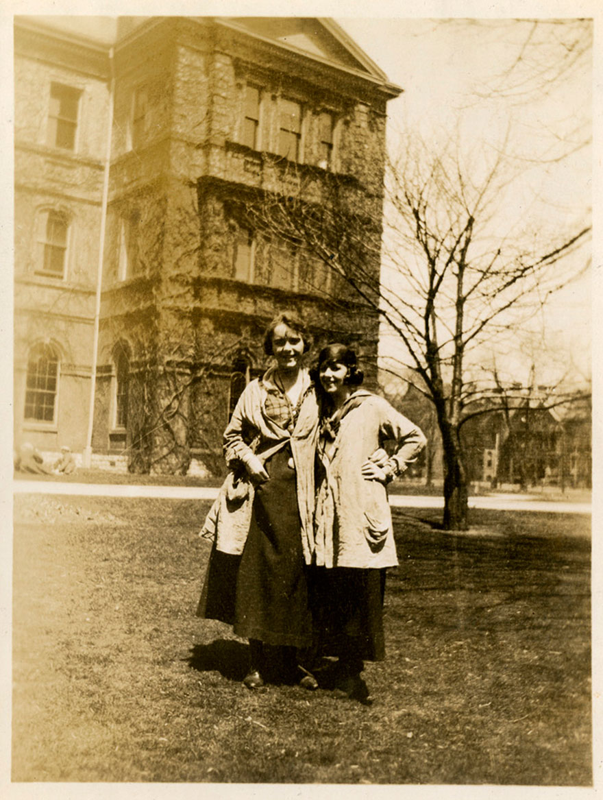OCA students in front of the Normal School, St. James Square (ca. 1919/1920)