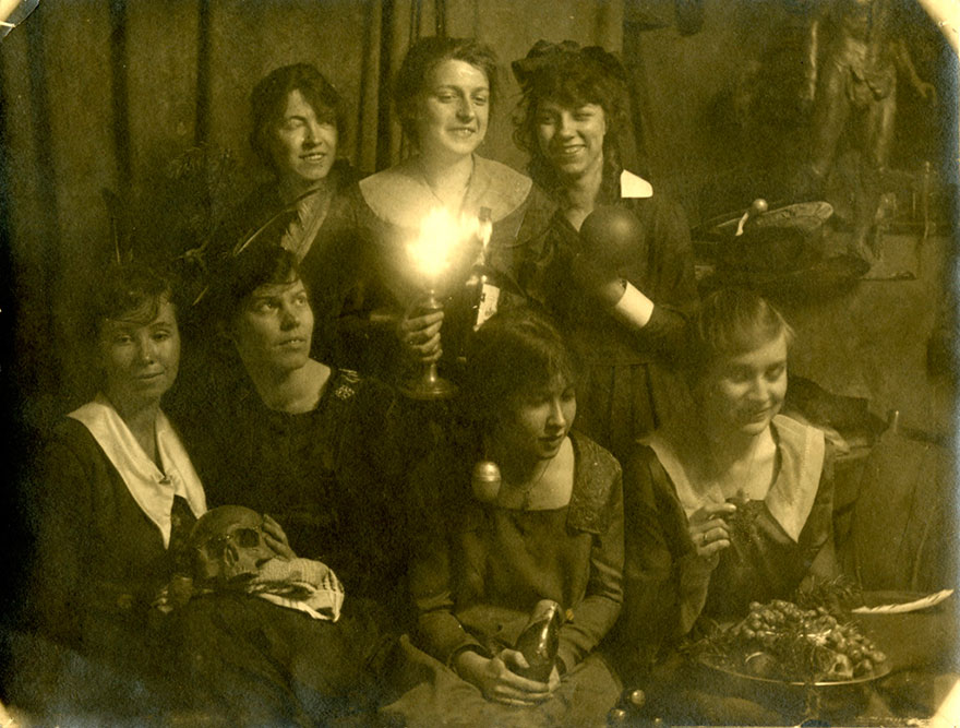 OCA students inside the Normal School, St. James Square  (ca. 1919/1920)
