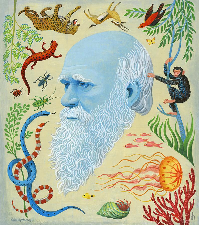 """""""Darwin"""" Artwork by Jody Hewgill"""