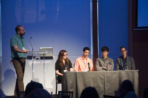 Patricio Davila, Shelagh McCartney, Behzad Sarmadi, Adrian Blackwell, Nicolas Barrette. Photo by Caroline Vani.