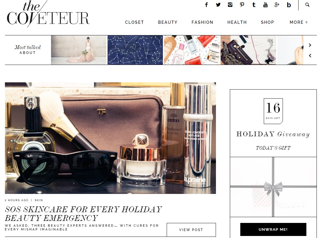 The Coveteur Website