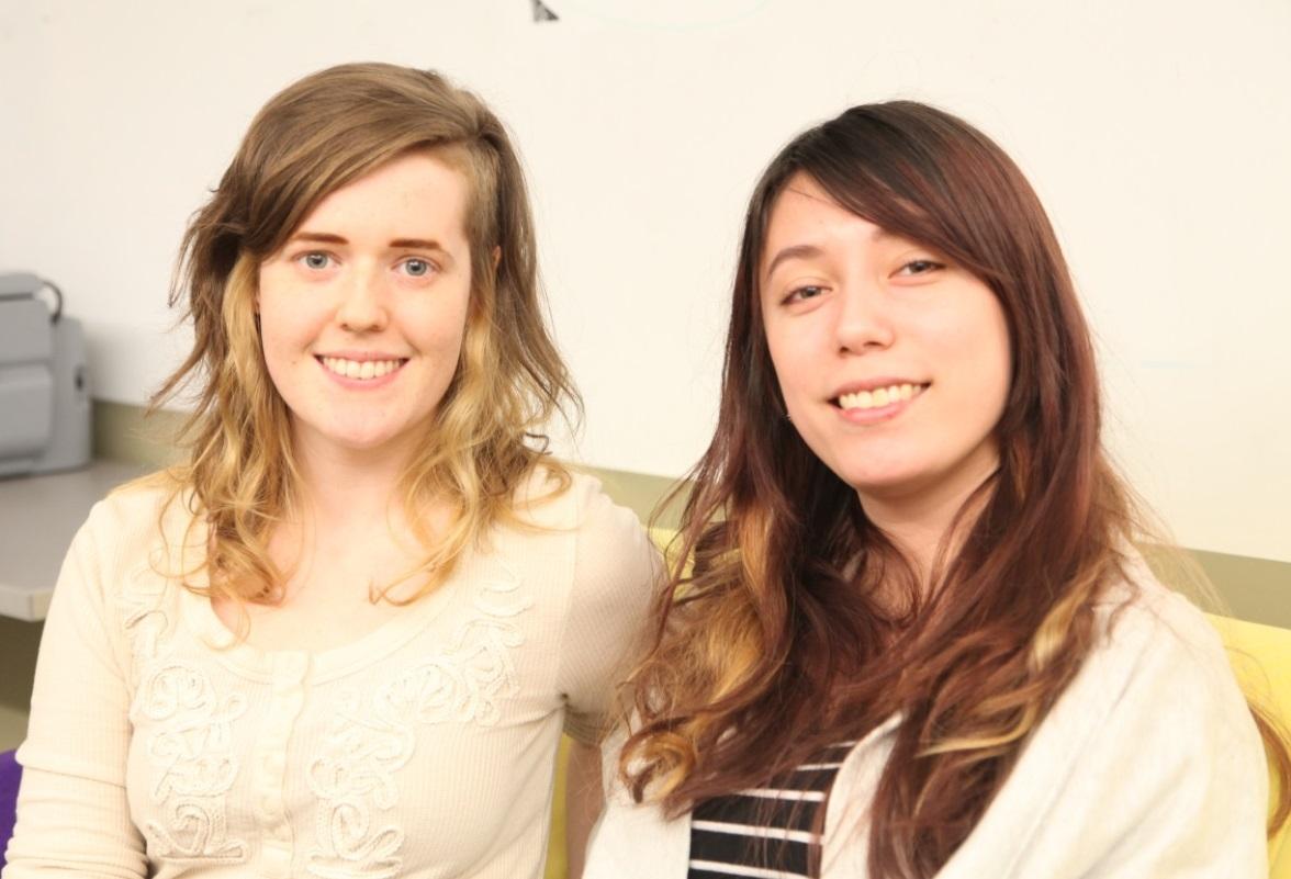 Digital Futures students Emma Burkeitt and Saffron Bolduc-Chiong