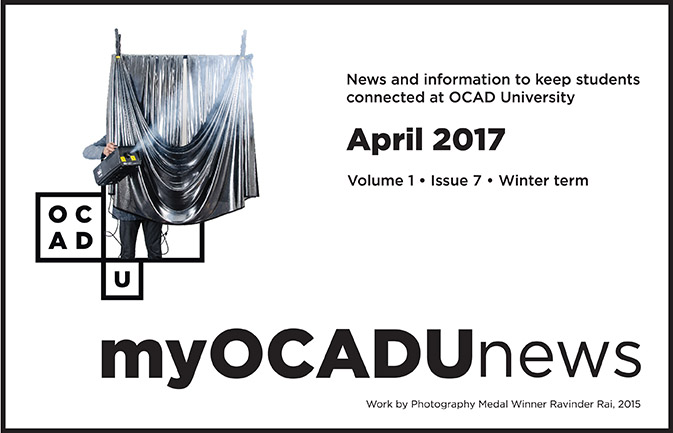 April myOCADU news header image