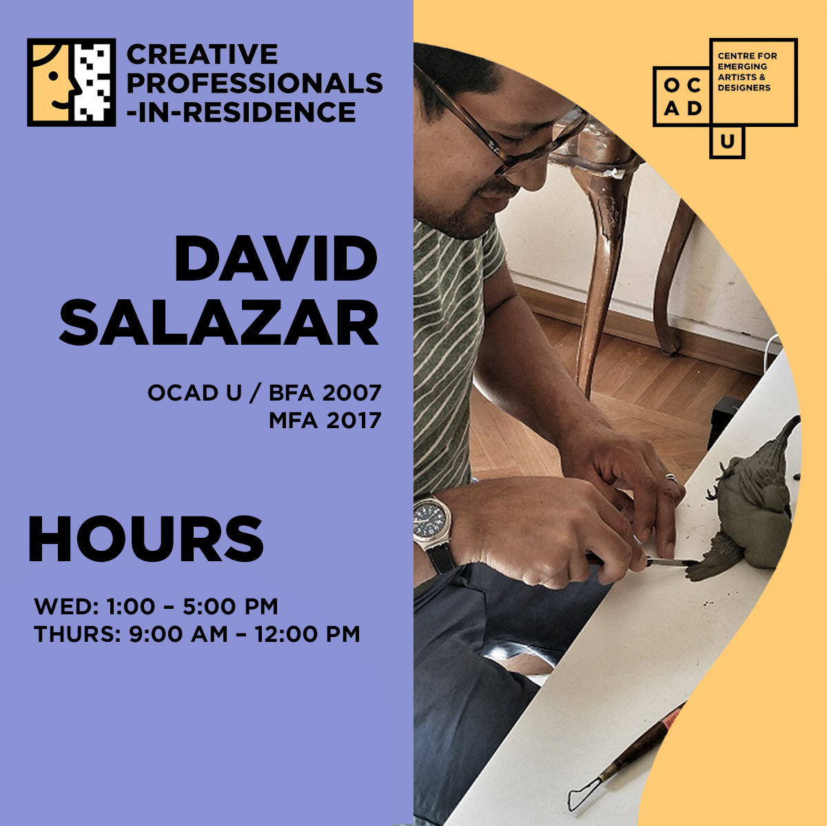 David Salazar | Creative Professional-in-Residence Artist | Hours