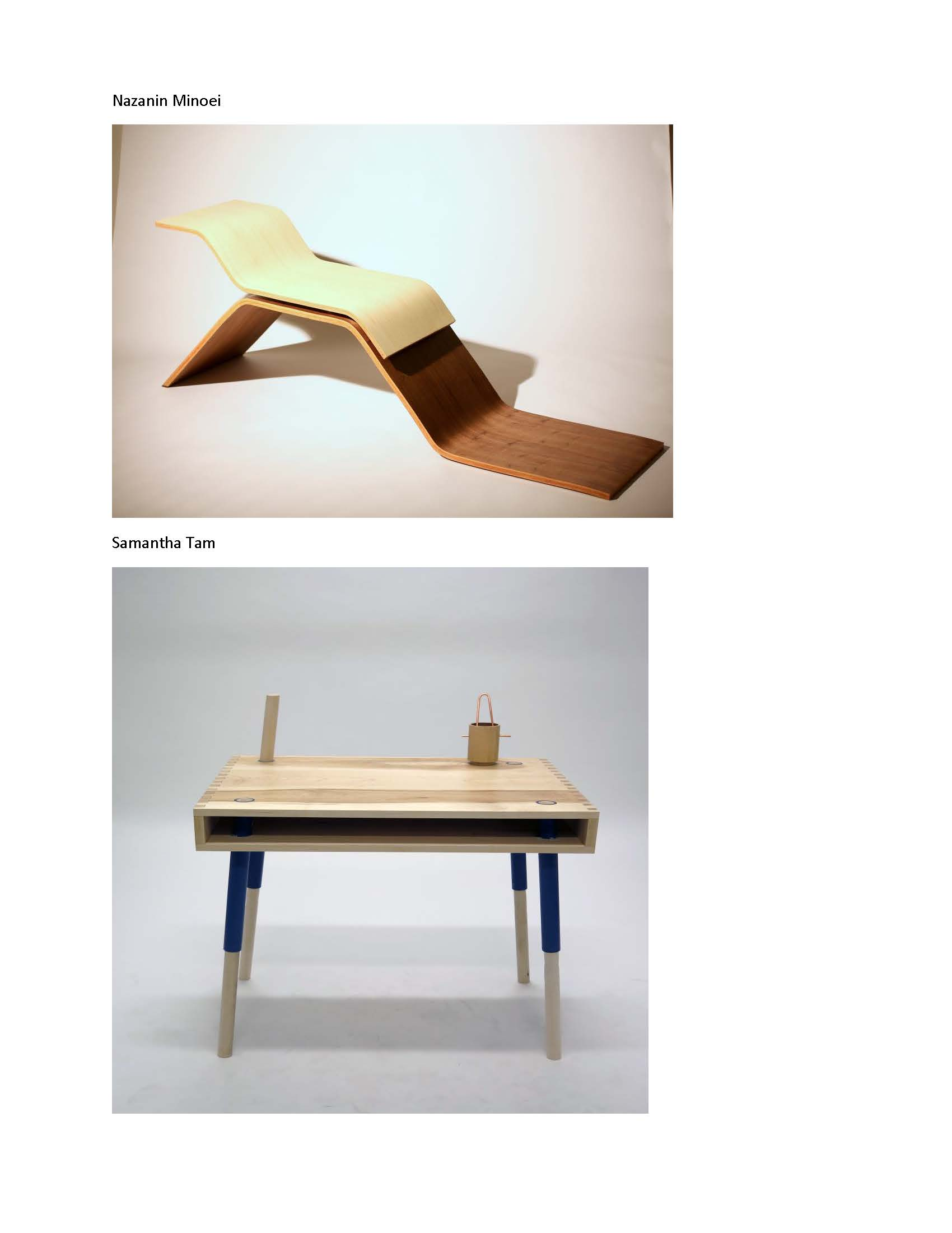 Id students from furniture design 1 win the monarch award for Table design 2016