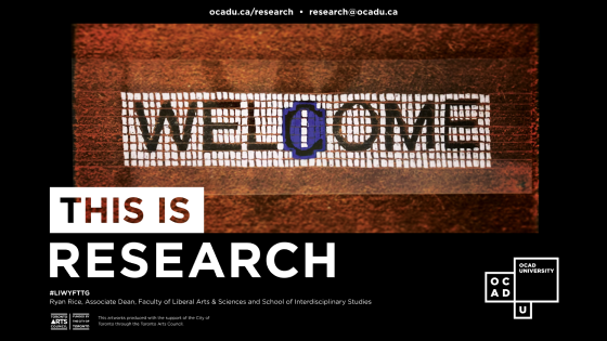 """This is Research"" poster for Ryan Rice's project"