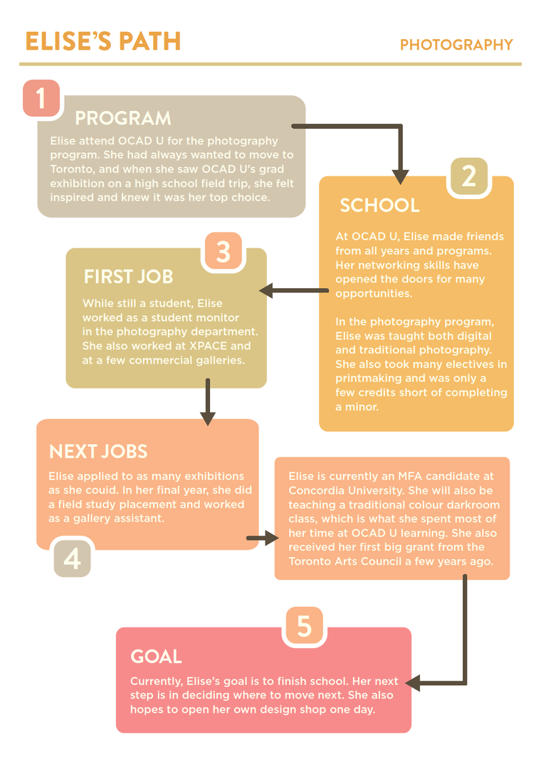 Infographic of Elise Windsor's career path