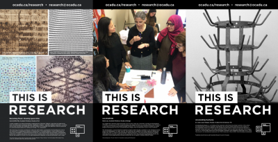 A collage of the three this is research posters .