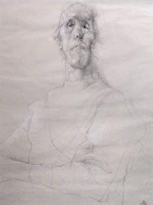 Image: John Gould, QUIXOTE ONE 22.75 x 17 Inches, Conté