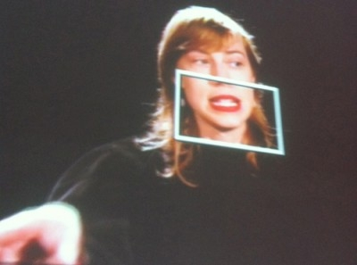 image of a woman with a square around her mouth