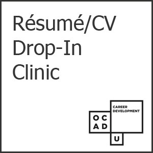 Event poster for Resume Drop Ins