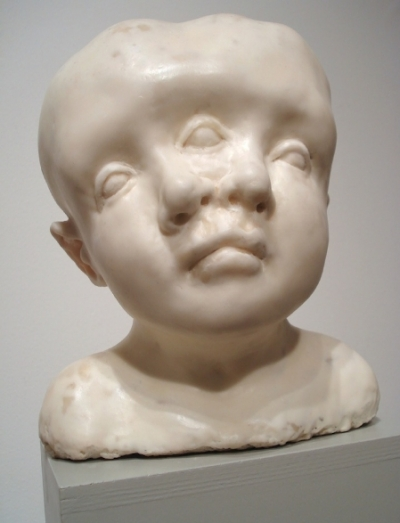 distorted bust of a child