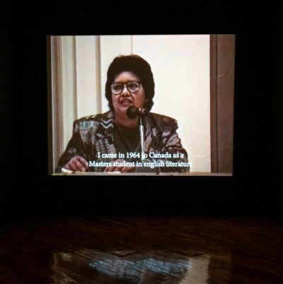 Pamila Matharu, stuck between an archive and an aesthetic (installation view) 2019. Colour HD video, 40 mins.