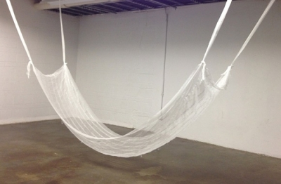 white hammock structure
