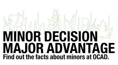 Minors at OCAD
