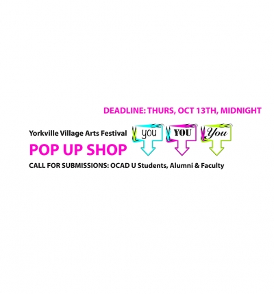 Pop up Shop poster, text on white background