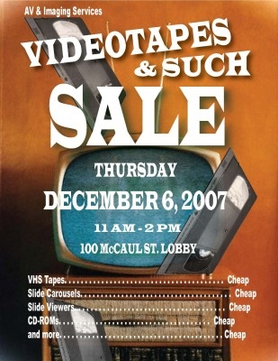 Videotapes & Such Sale