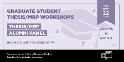 Thesis/MRP Workshop banner