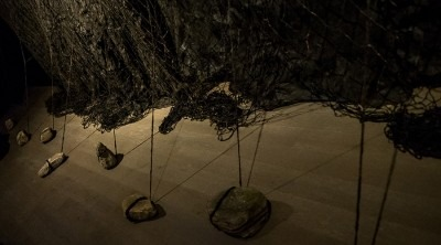photo of fibre/string based installation