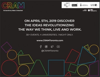 CRAM festival poster with dates and times