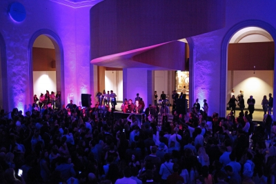image of AGO interior with party-goers