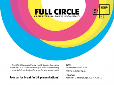 Full Circle: An Open Forum on Campus Mental Health Event Invitation