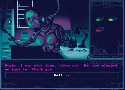 pixelated image of robot