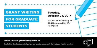 Grant Writing Workshop 2017 Promo Image