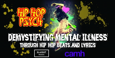 Poster with break dancer and bright colours