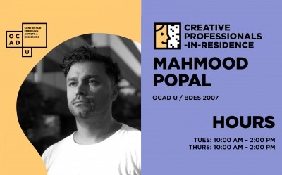 Mahmood Popal | Creative Professional-in-Residence Artist | Hours