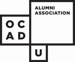 OCAD U logo with the words Alumni Association in the top right