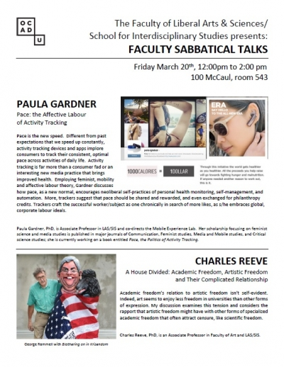 Sabbatical Talks Poster - March 20