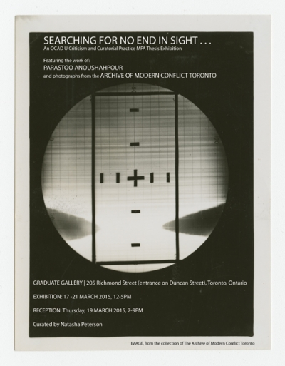 SEARCHING FOR NO END IN SIGHT... Exhibition Poster