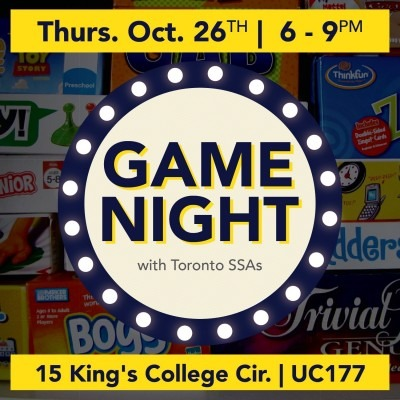 SSA Game Night graphic