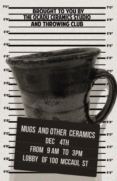 Image of a mugshot with an actual mug