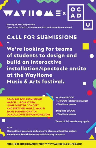 poster for Wayhome competition with deadline