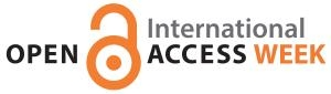Open Access Week orange logo with black text