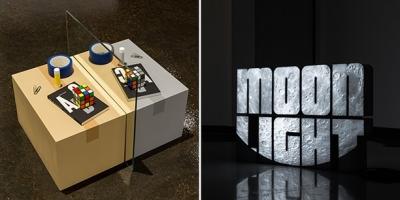 photos of contemporary artworks by Roula Partheniou and Adam David Brown