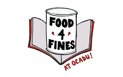 """An illustration of a can with the text """"Food 4 Fines"""""""