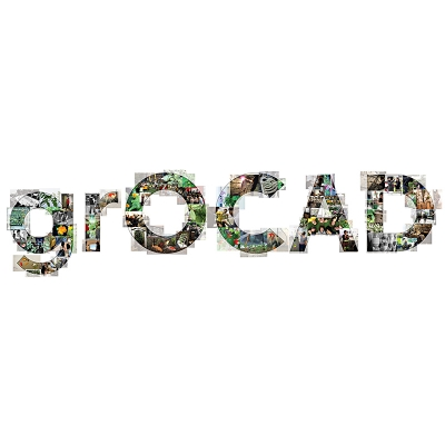 Photographs of grOCAD members displayed in text shape image spelling the name grOCAD.