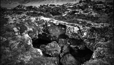 photographic detail of a rocky outcrop