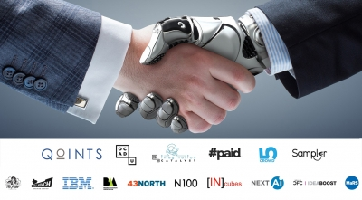 handshake with robotic arm